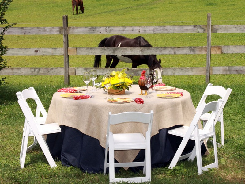 Rustic Tablecloths For Wedding