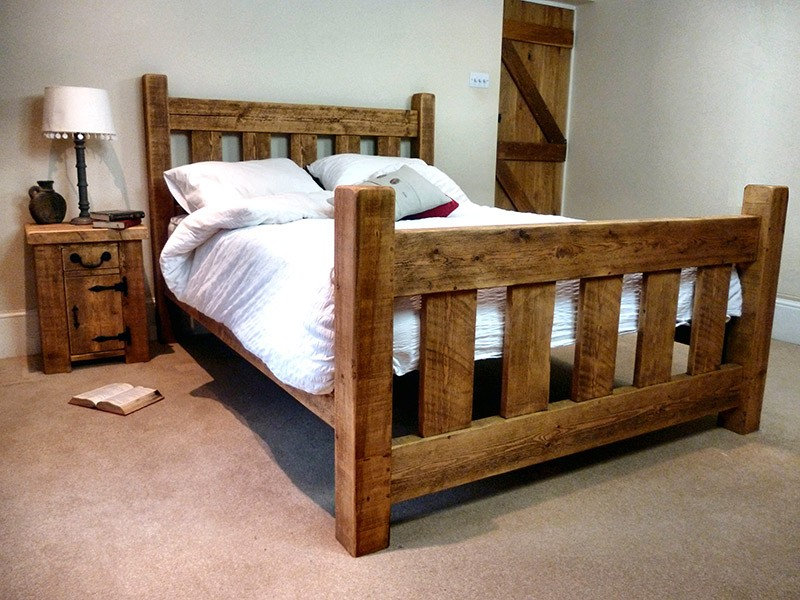 Rustic Wood Bed Frame