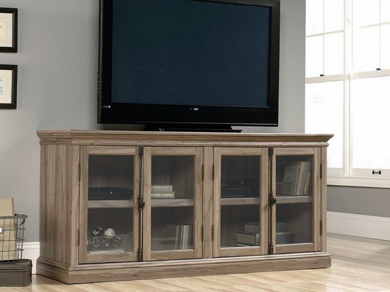 Sauder Harbor View Salt Oak Entertainment Credenza