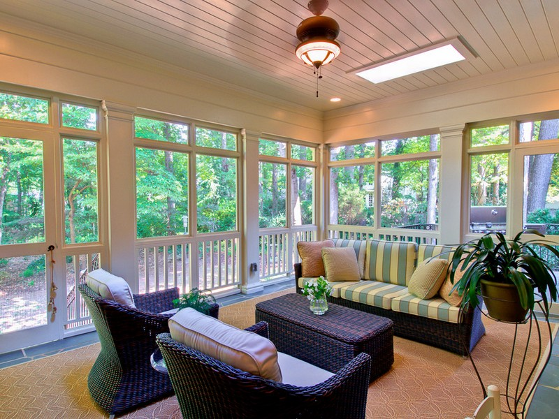 Screened Porch Furniture Layout