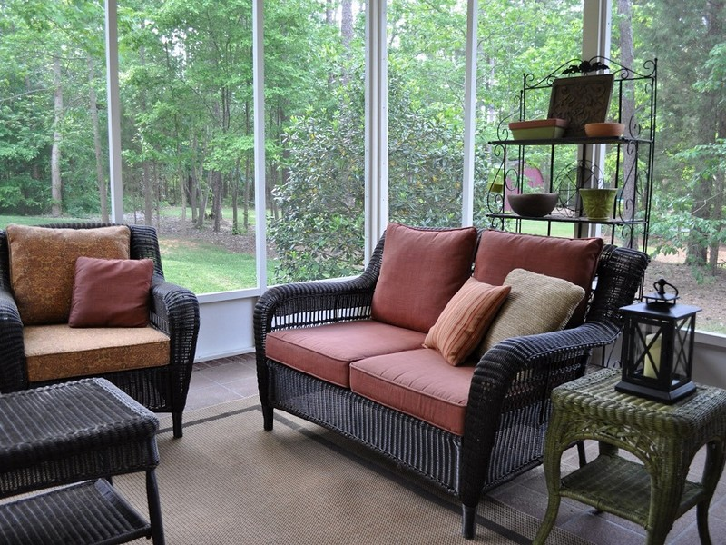 Screened Porch Furniture Arrangements Home Design Ideas