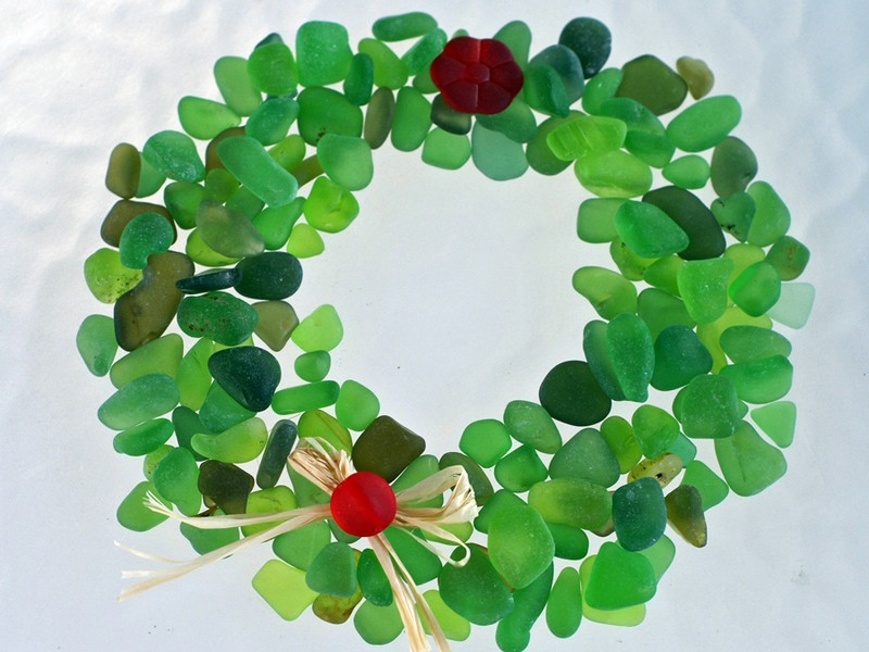 Sea Glass Wreath