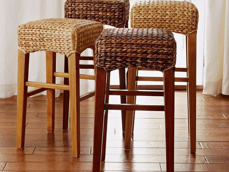 Seagrass Bar Stools Backless