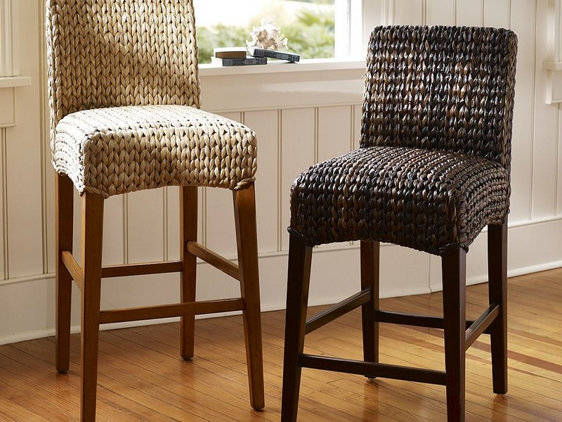 Seagrass Bar Stools With Back