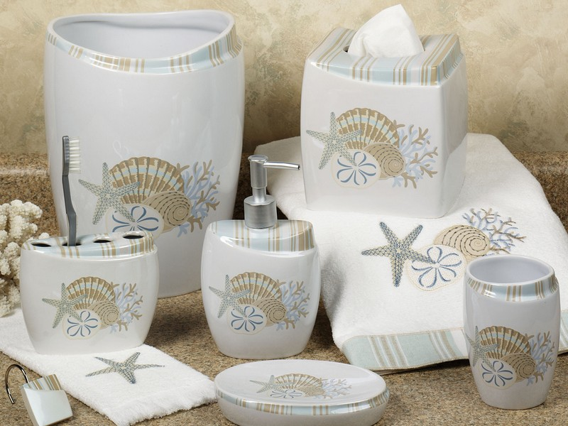 Seashell Bathroom Accessories Sets