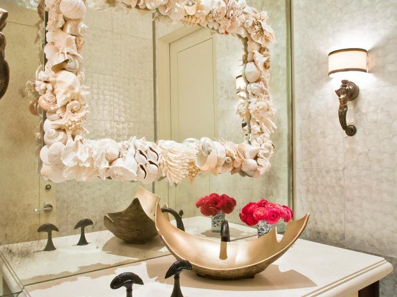 Seashell Bathroom Mirror
