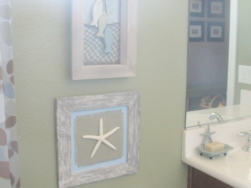 Seashell Wall Decor Bathroom