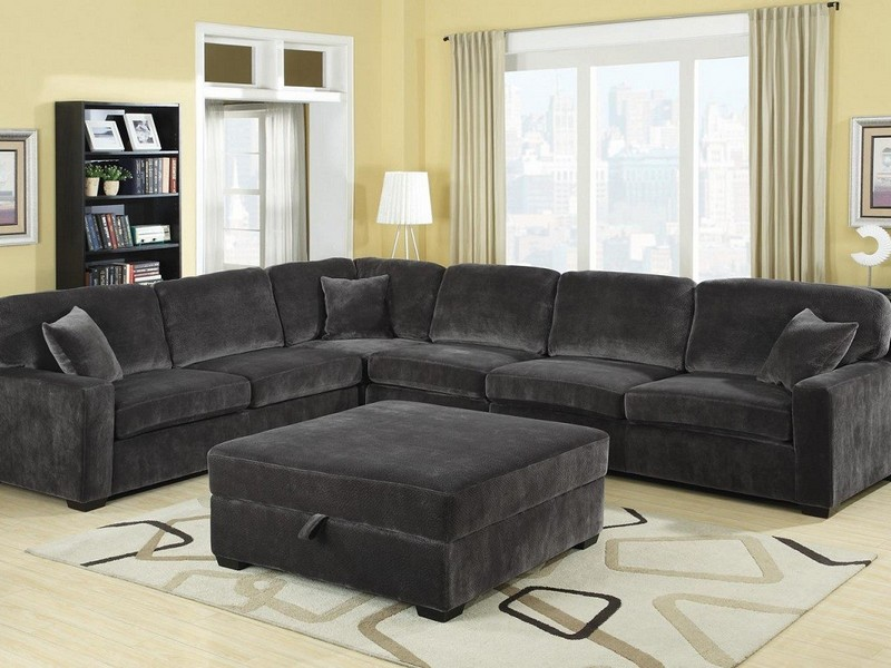 Sectional Couch With Large Ottoman