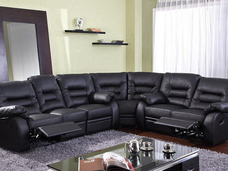 Sectional Leather Couch Recliner