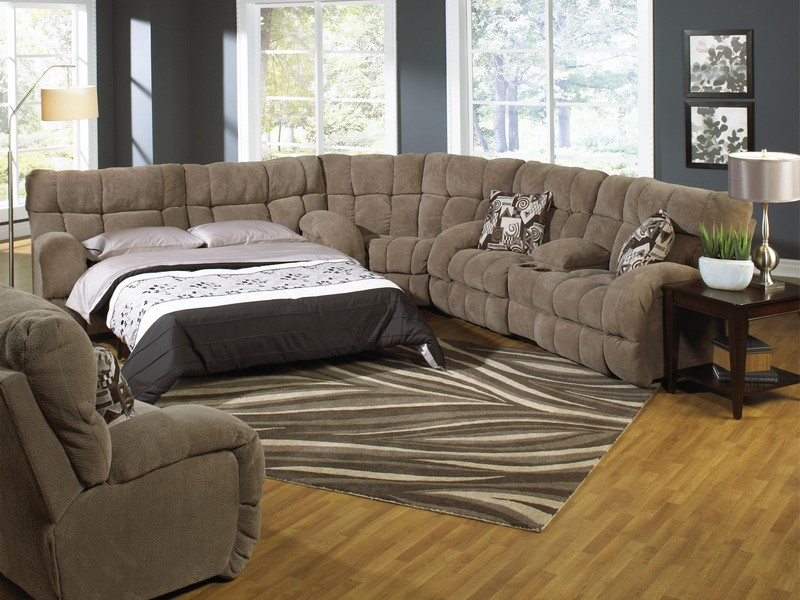 Sectional Sofa With Recliner And Sleeper