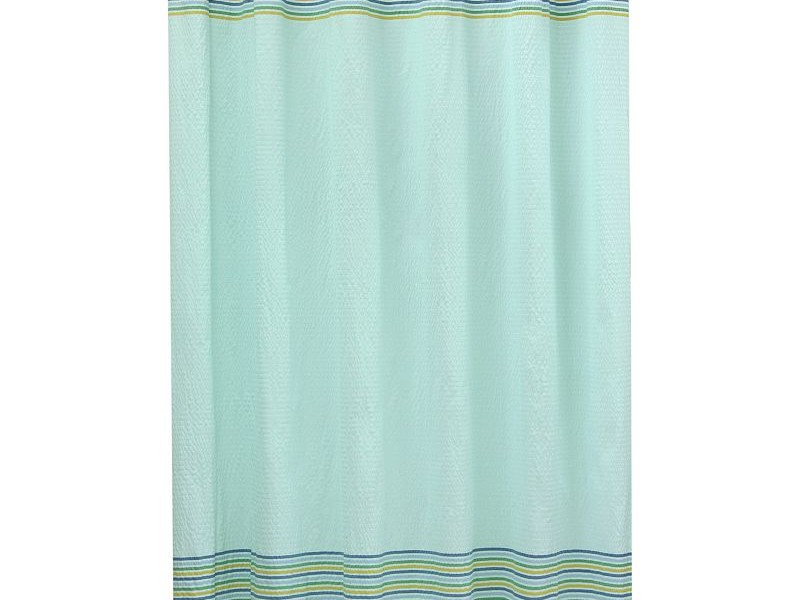 Seersucker Shower Curtain Blue