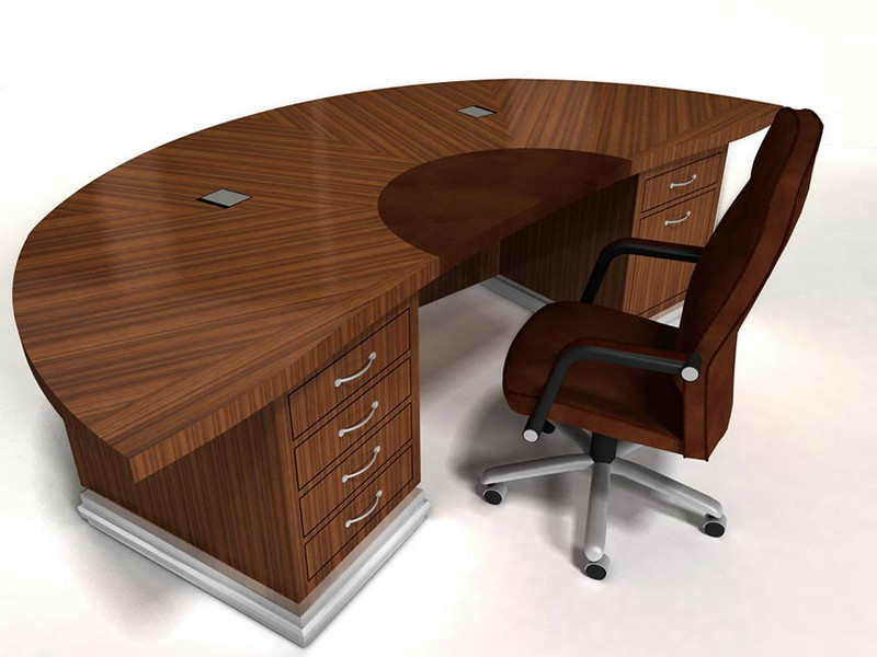 Semi Circle Desk With Cut Out