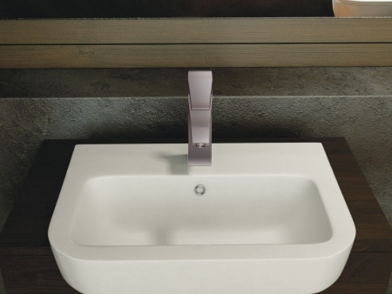 Semi Recessed Bathroom Sink Square