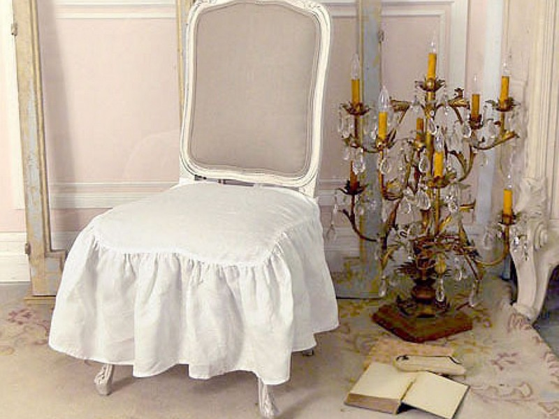 Shabby Chic Dining Chair Seat Covers