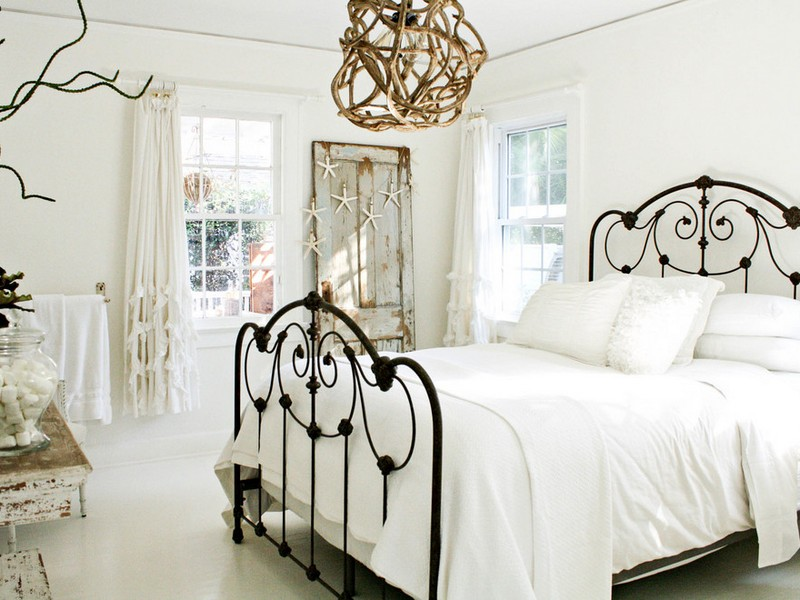 Shabby Chic Iron Bed Frame