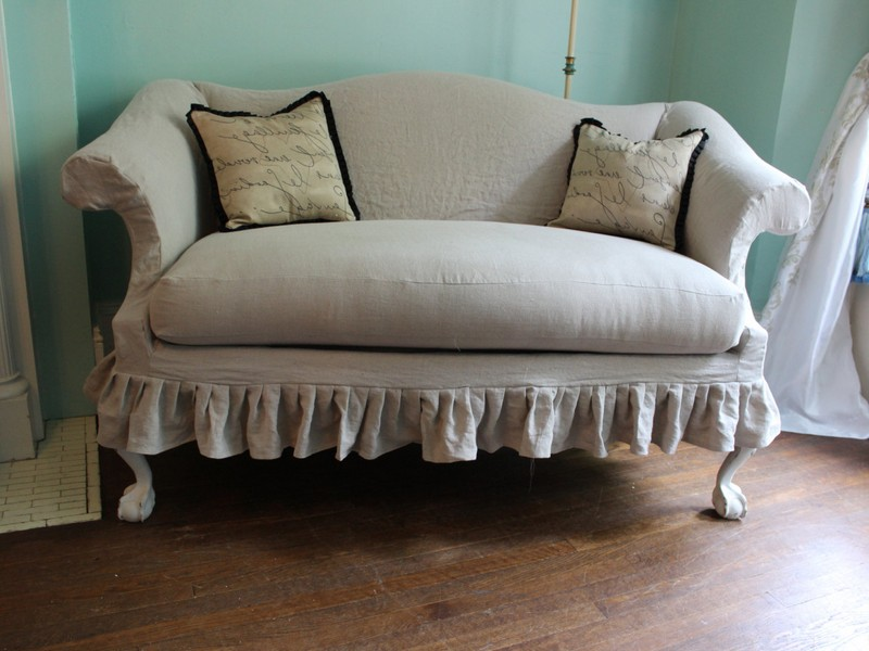Shabby Chic Loveseat Cover