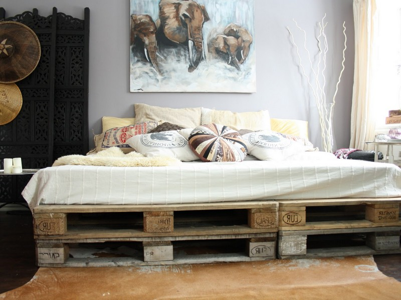 Shabby Chic Wooden Bed Frame