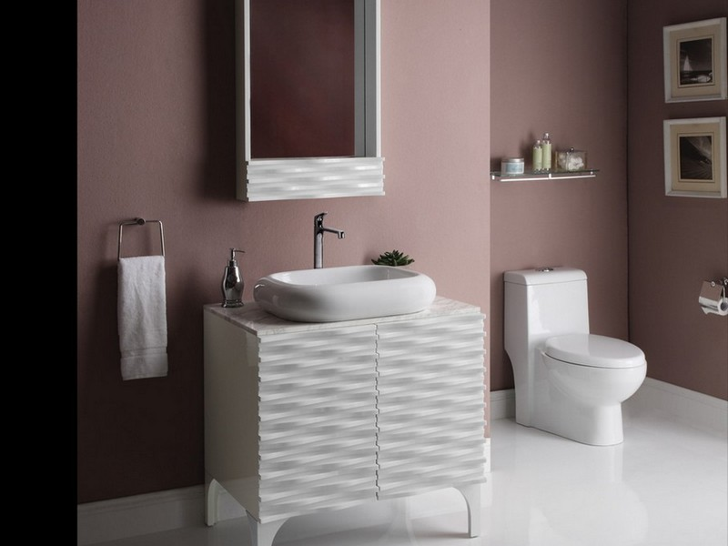 Shallow Bathroom Sink Cabinet