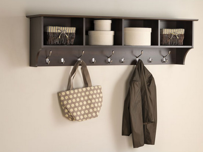 Shelf With Coat Hooks