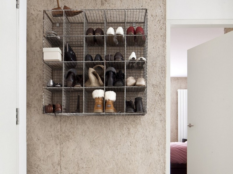 Exciting Carbon Neutral House Mudroom Decor With Shoe Rack