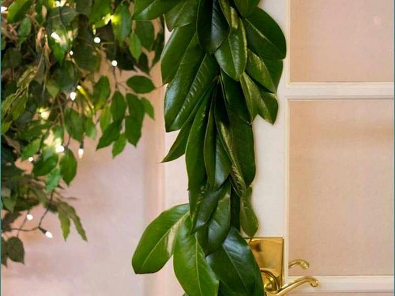 Silk Magnolia Leaf Garland