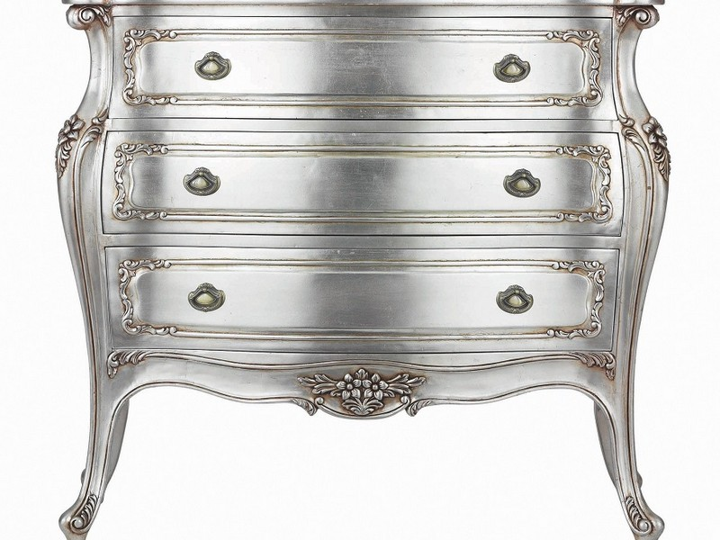 Silver Bombe Chest Of Drawers