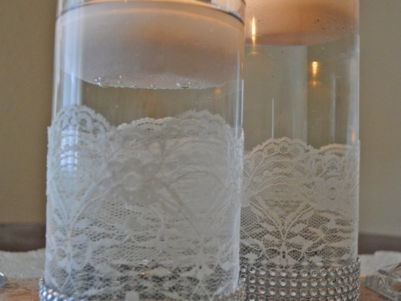 Silver Floating Candles