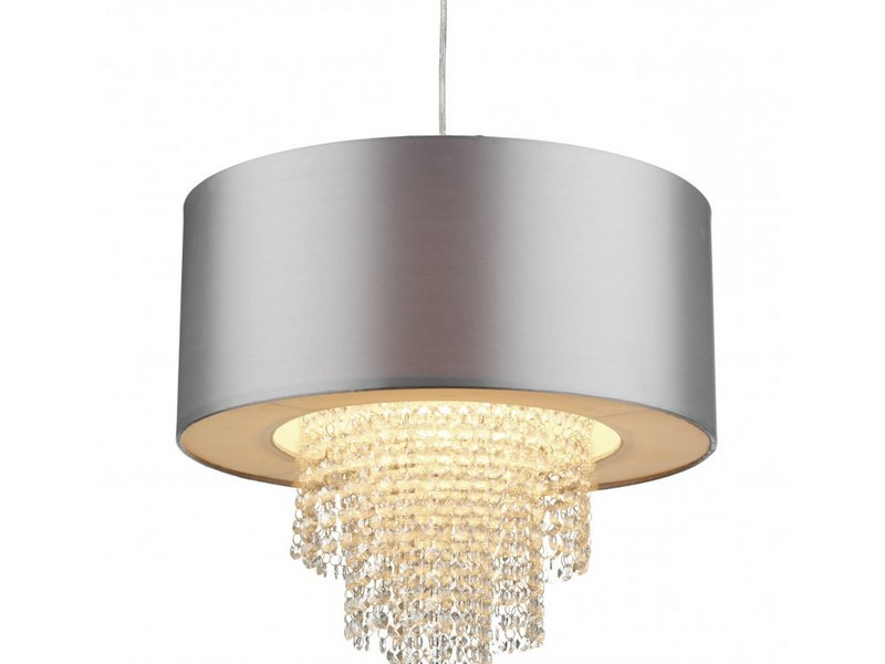 Silver Grey Lamp Shades