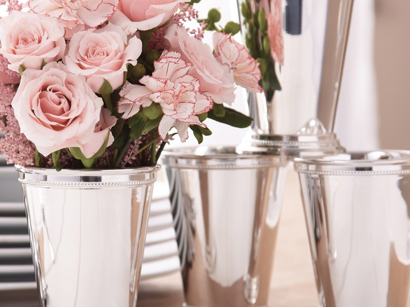 Silver Mint Julep Cups Vases