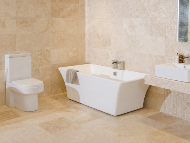 Silver Travertine Bathroom Ideas
