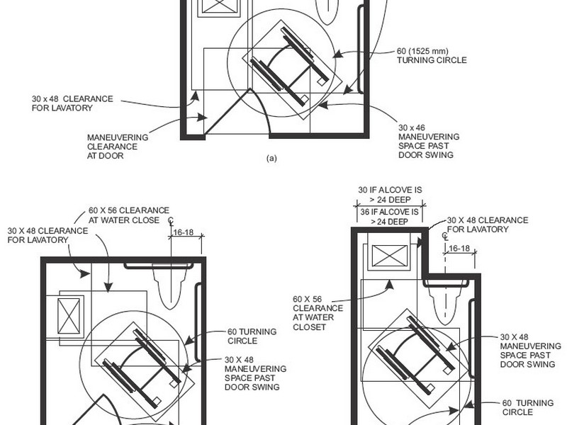 Single Ada Bathroom Layout