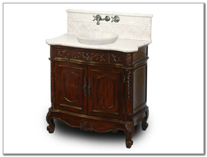 Single Bathroom Vanity With Vessel Sink