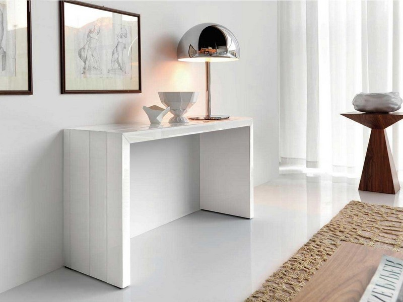 Skinny White Console Table