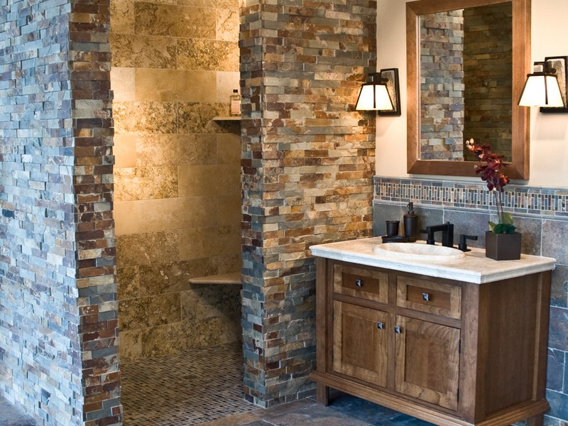 Slate Tile Bathroom Designs