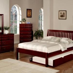 Sleigh Bed Queen Cherry