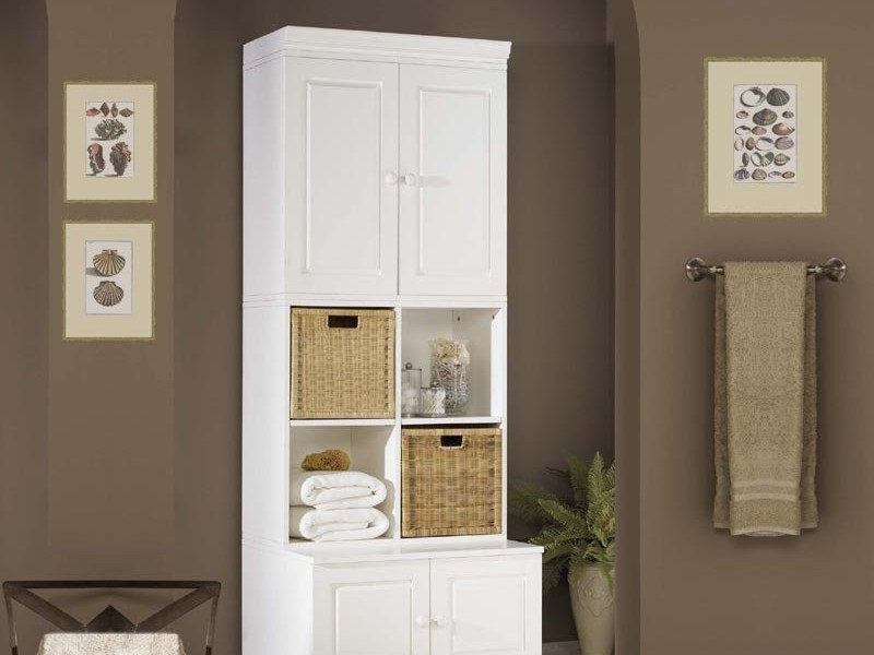 Slim Bathroom Floor Cabinet