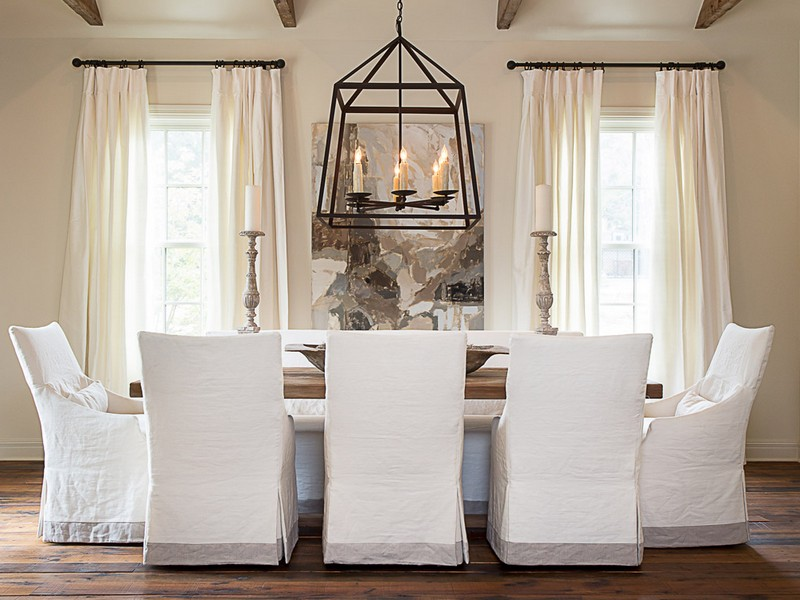 Slipcovered Dining Chairs With Arms