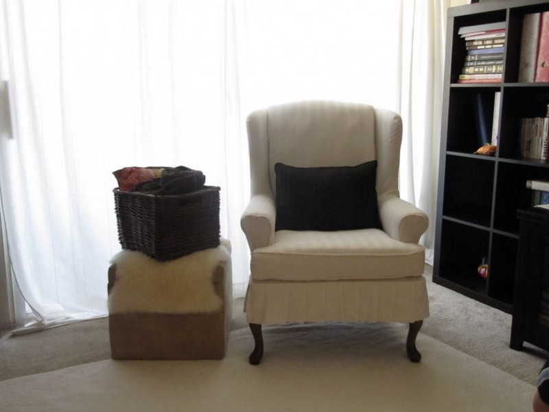 Slipcovers For Wingback Chairs And Ottomans