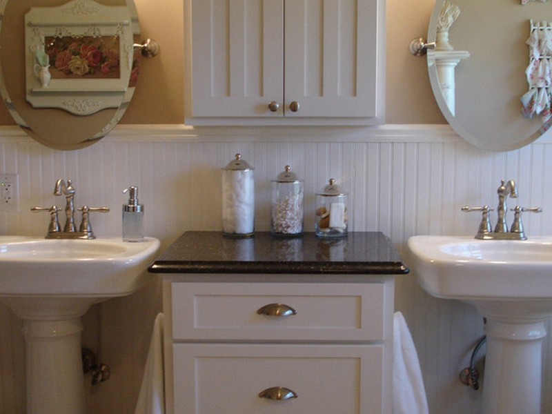 Small Bathroom Pedestal Sink Storage