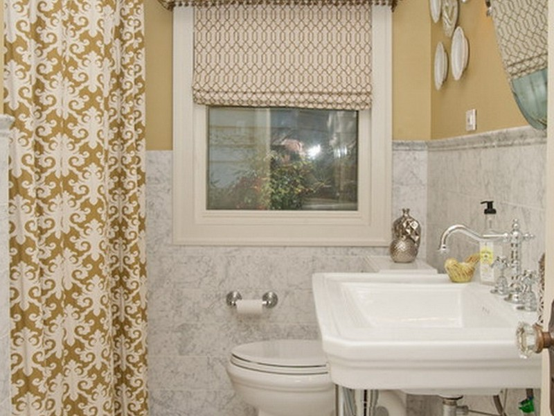 Small Bathroom Window Curtain Ideas