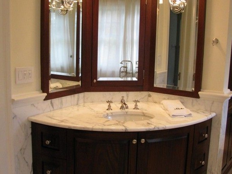 Small Corner Bathroom Sink And Cabinet
