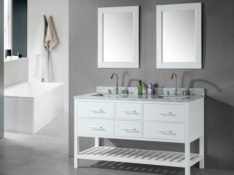 Small Double Sink Bathroom Vanity