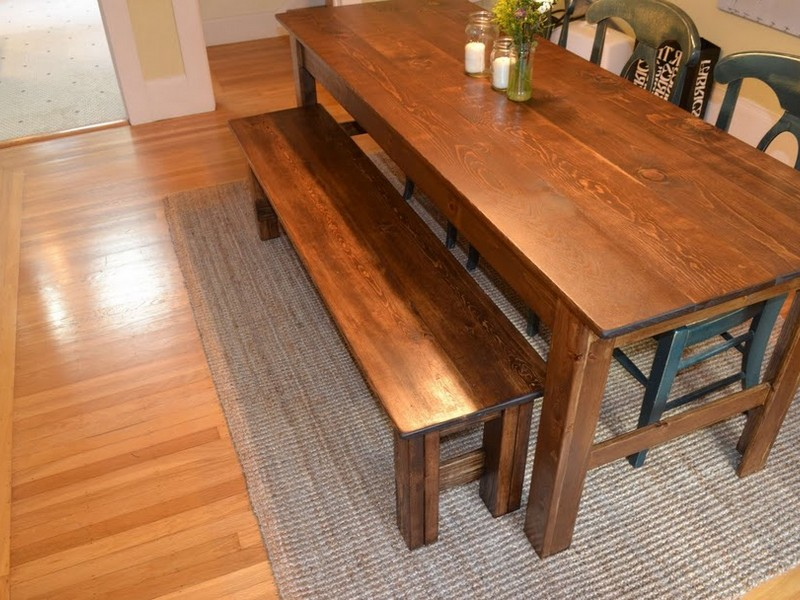 Small Farmhouse Table With Bench
