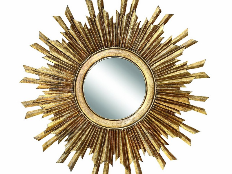 Small Gold Sunburst Mirror