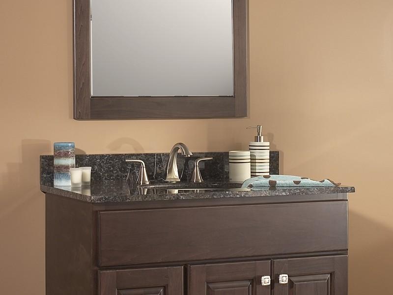 Small Mirrored Bathroom Vanity