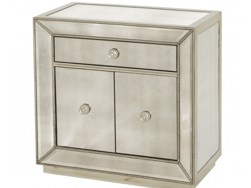 Small Mirrored Nightstand