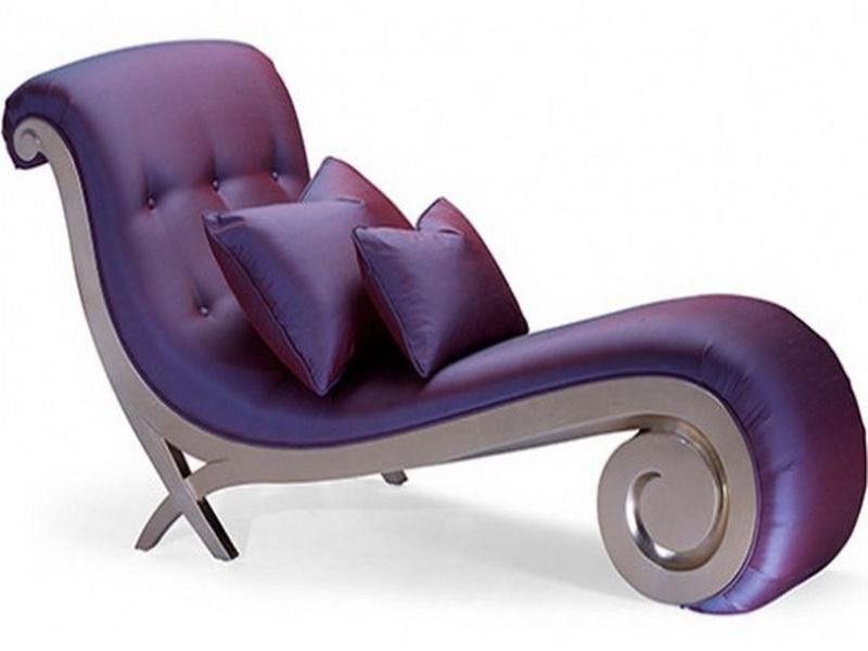 Small Purple Chaise Lounge