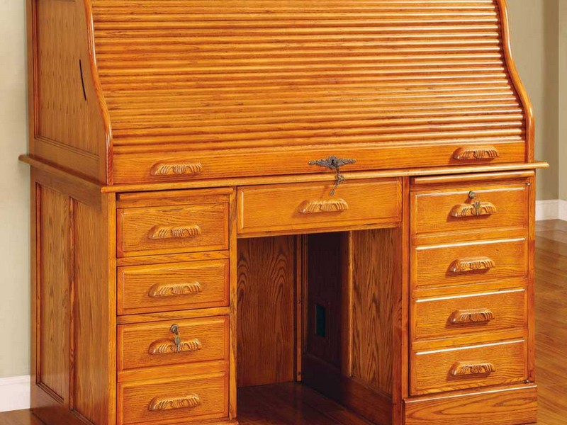Small Roll Top Secretary Desk