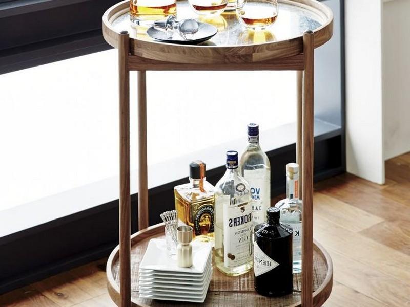 Small Round Bar Cart