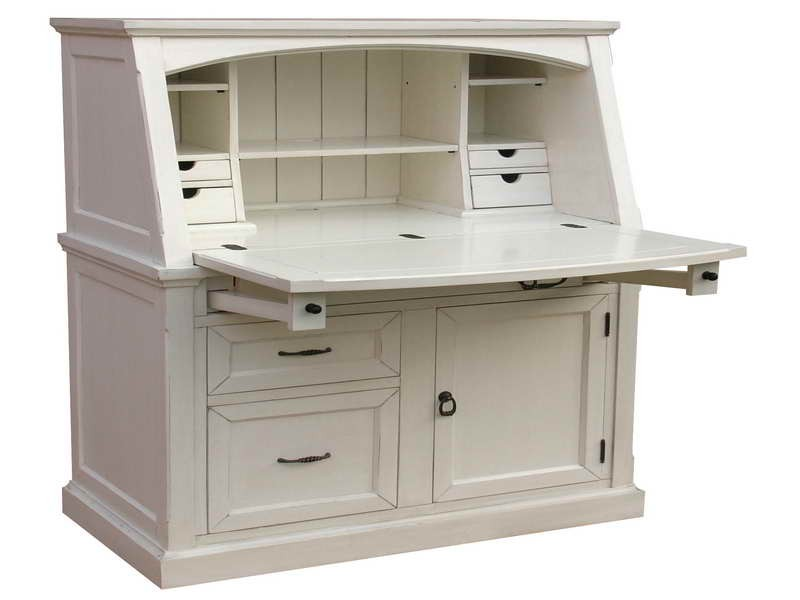 Small Secretary Desk White